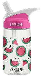 【【蘋果戶外】】美國Camelbak兒童彈跳式吸管水瓶西瓜甜心400ml0.4L0.4公升登山水壺單車水壺