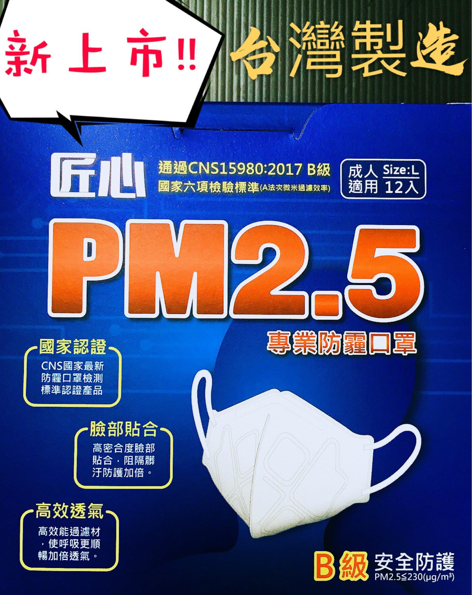 【MG】新上市 匠心PM2.5口罩 專業防霧霾口罩 通過國家檢驗B級防霾口罩