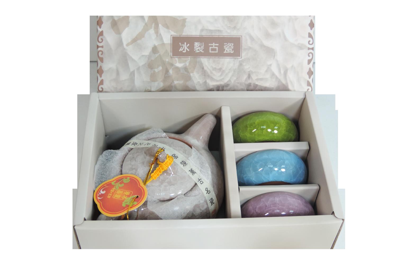 【SunEasy生活館】鹽水燒-冰裂古瓷茶具組(一壺三杯)