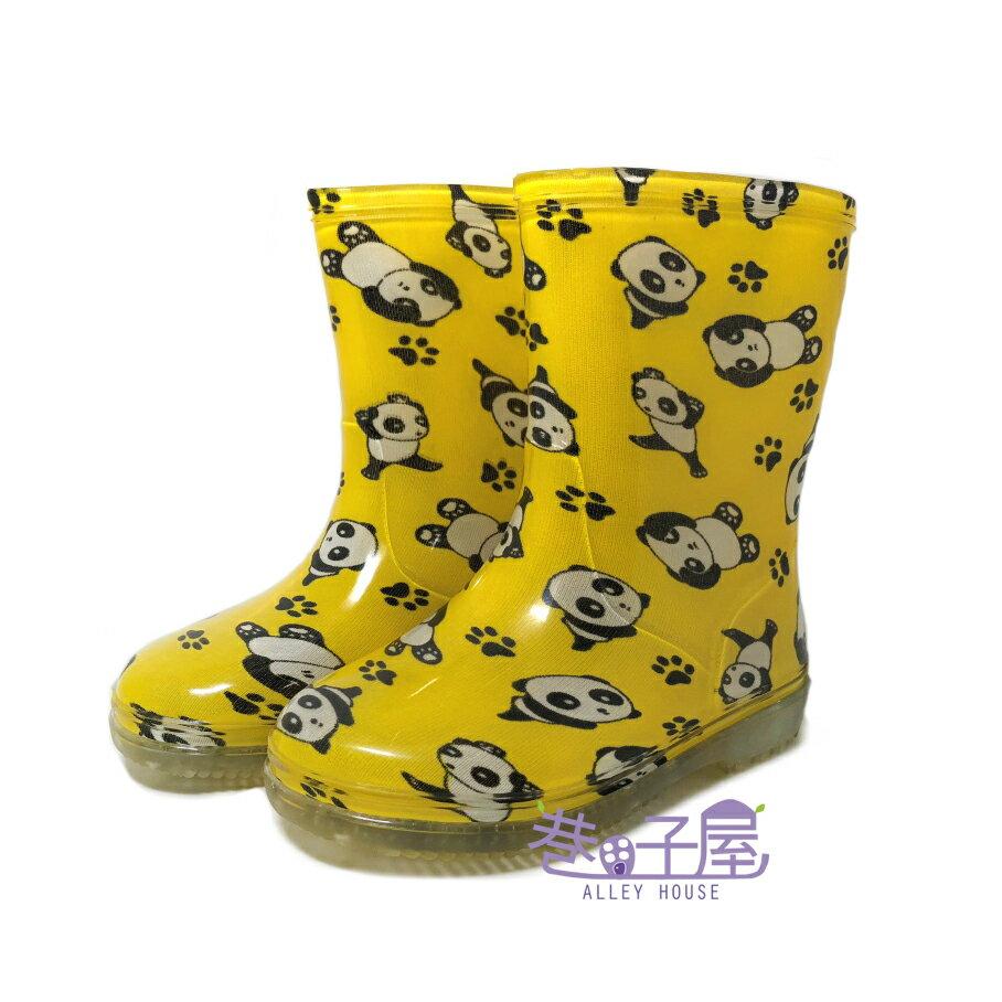 【巷子屋】童款熊貓造型雨鞋 雨靴 [9312] 黃色 MIT台灣製造 超值價$298