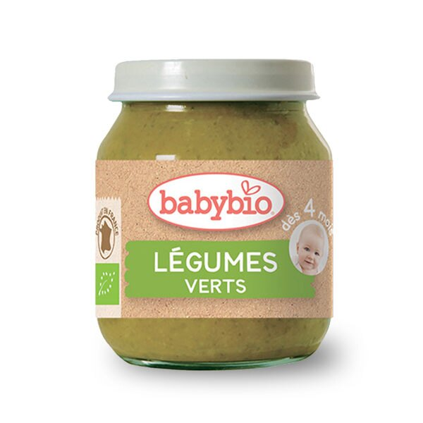 法國 倍優 Babybio 有機蔬菜泥-碧綠蔬菜 有機嬰幼兒副食品 4m+ 130g