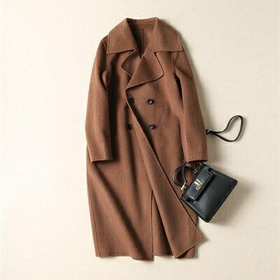 【米蘭秀】【奇珍館】:毛呢外套羊毛大衣-時尚氣質純色修身女外套73op13【獨家進口】【米蘭精品】