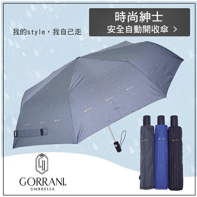 ~GORRANI~2982滿版紳士自動開收傘 安全 晴雨傘 陽傘 自動折傘 有型英倫風