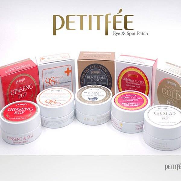 Petitfee 紅蔘EGF醫療修護眼膜 +98%膠原/Q10+熊果素+EGF金箔凍膜 附挖勺 §異國精品§