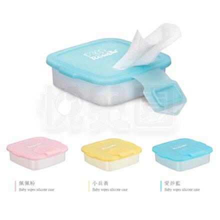 柔仕Roaze矽膠抽取盒+乾濕兩用布巾(20片)-藍粉黃【悅兒園婦幼用品館】