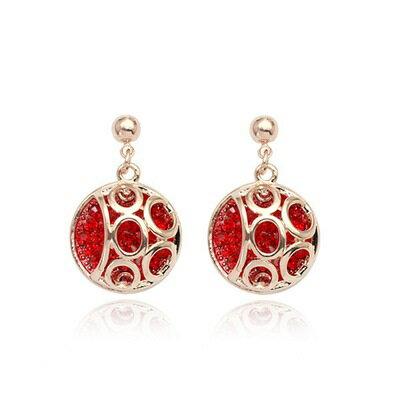 ~玫瑰金耳環925純銀鑲鑽耳飾~ 立體球形 情人節生日 女飾品2色73gs77~ ~~米蘭