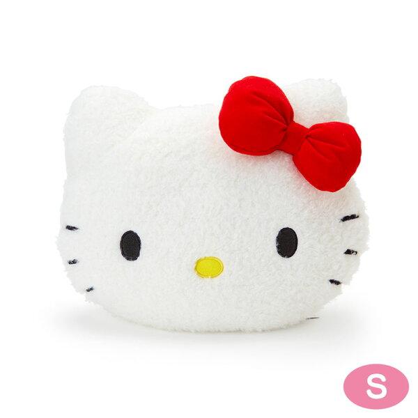 【真愛日本】18052300003造型靠墊S-KT大臉ACP凱蒂貓KITTY三麗鷗靠墊抱枕枕頭