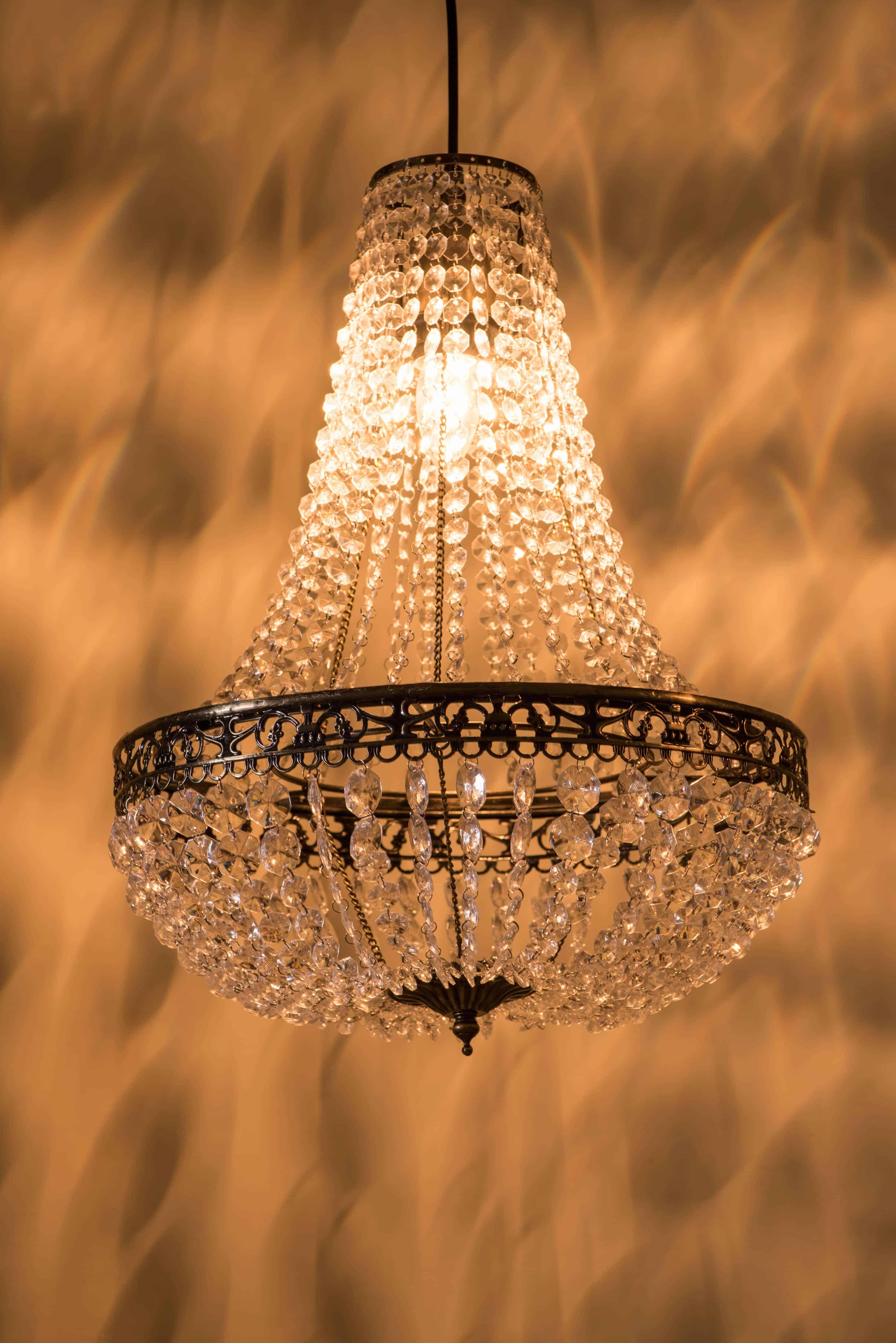 古銅華麗透明壓克力珠吊燈-BNL00050 4