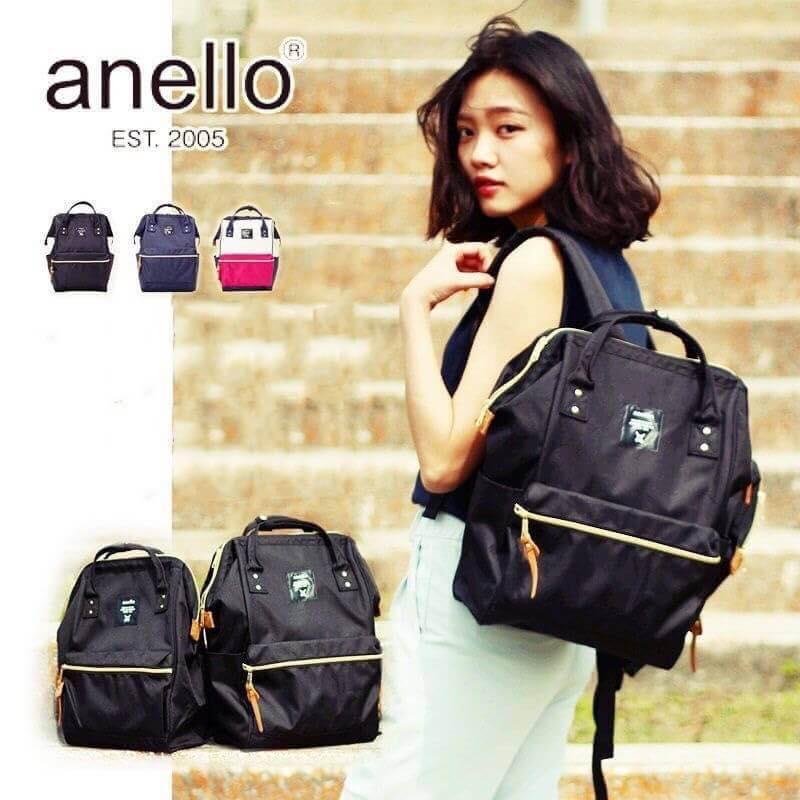 【日本anello】ANELLO 雙肩後背包 《小號》- 紅白【滿3000領券現折300】 7