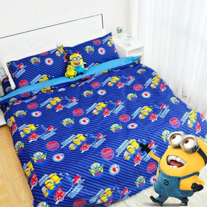 床包涼被組 / 單人3.5 x 6.2尺【小小兵英國倫敦版】正版授權.超可愛襲台_臺灣製造