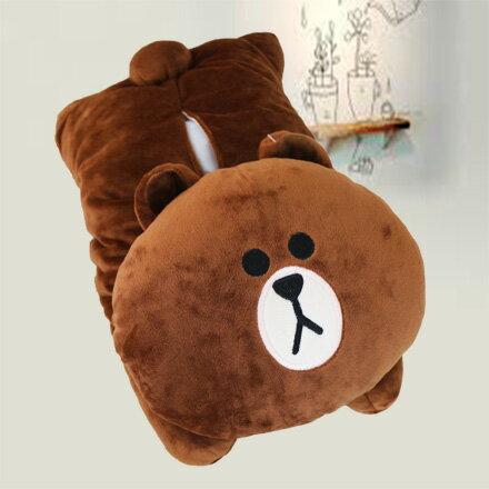 【敵富朗超巿】熊大絨毛趴姿面紙套