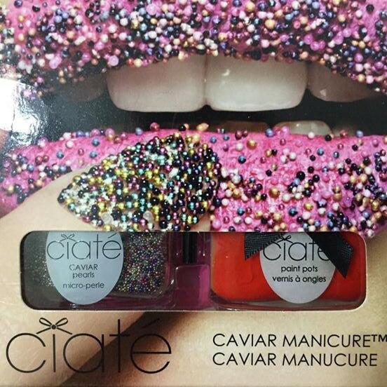 【英國Ciaté夏緹】Caviar Manicure Set魚子醬指甲油組合-彩色珍珠 (13.5ml x 2pcs, 小漏斗x1 pc)