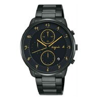 agnès b.到agnes b VD57-KY30G(BM3019J1) 法式時尚計時腕錶/黑面40mm
