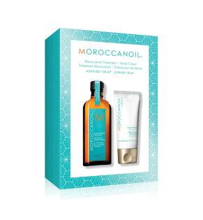 MoroccanOil摩洛哥優油125ml+經典護手霜75ml禮盒組