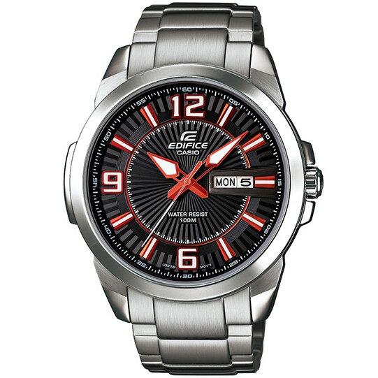 CASIO EDIFICE EFR-103D-1A4雙日曆流行運動腕錶/黑面45mm