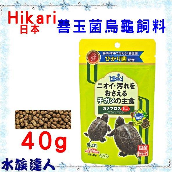 【水族達人】日本Hikari《高夠力 善玉菌烏龜飼料 浮水性 mini 40g  20510》長尾龜 班龜 日本製造