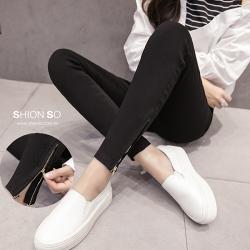 享瘦衣舍中大尺碼【B2022】塑型顯瘦造型拉鍊百搭款鉛筆褲