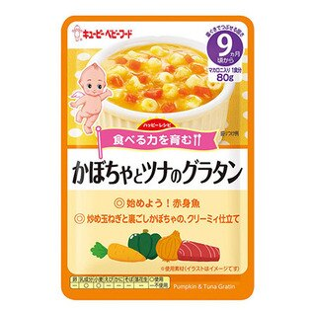 日本KEWPIEキユーピー丘比奶油鮪魚焗麵9M+副食品即食包隨行包離乳食