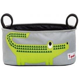 【淘氣寶寶】加拿大 3 Sprouts推車置物袋-小鱷魚【超大容量置物袋,可調式魔鬼氈】【保證公司貨●品質保證】