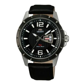 Orient 東方錶(FUG1X002B)運動風石英腕錶/黑面43mm