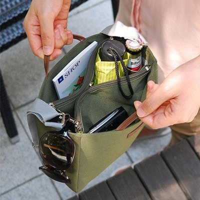 手提包旅行包-輕便簡約多隔層帆布側背包4色73pp310【獨家進口】【米蘭精品】 2