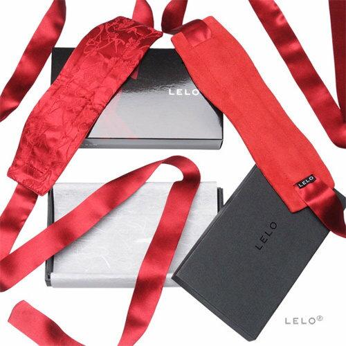 瑞典 LELO 絲綢系列 ETHEREA SILK CUFFS 緞帶編織手銬-紅