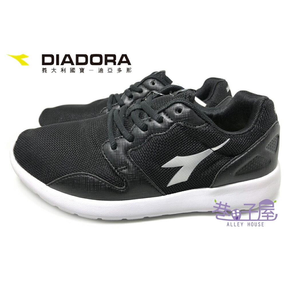 ~巷子屋~義大利國寶鞋~DIADORA迪亞多納 女款E寬楦漫步超輕慢跑鞋  3370  黑