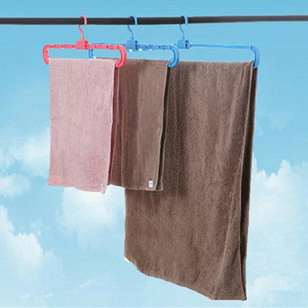BO雜貨【sV8172】日本製 HG-027浴巾架 伸縮防風吹曬衣架 床單被單曬衣架 毛巾架加長 可伸縮浴巾衣架