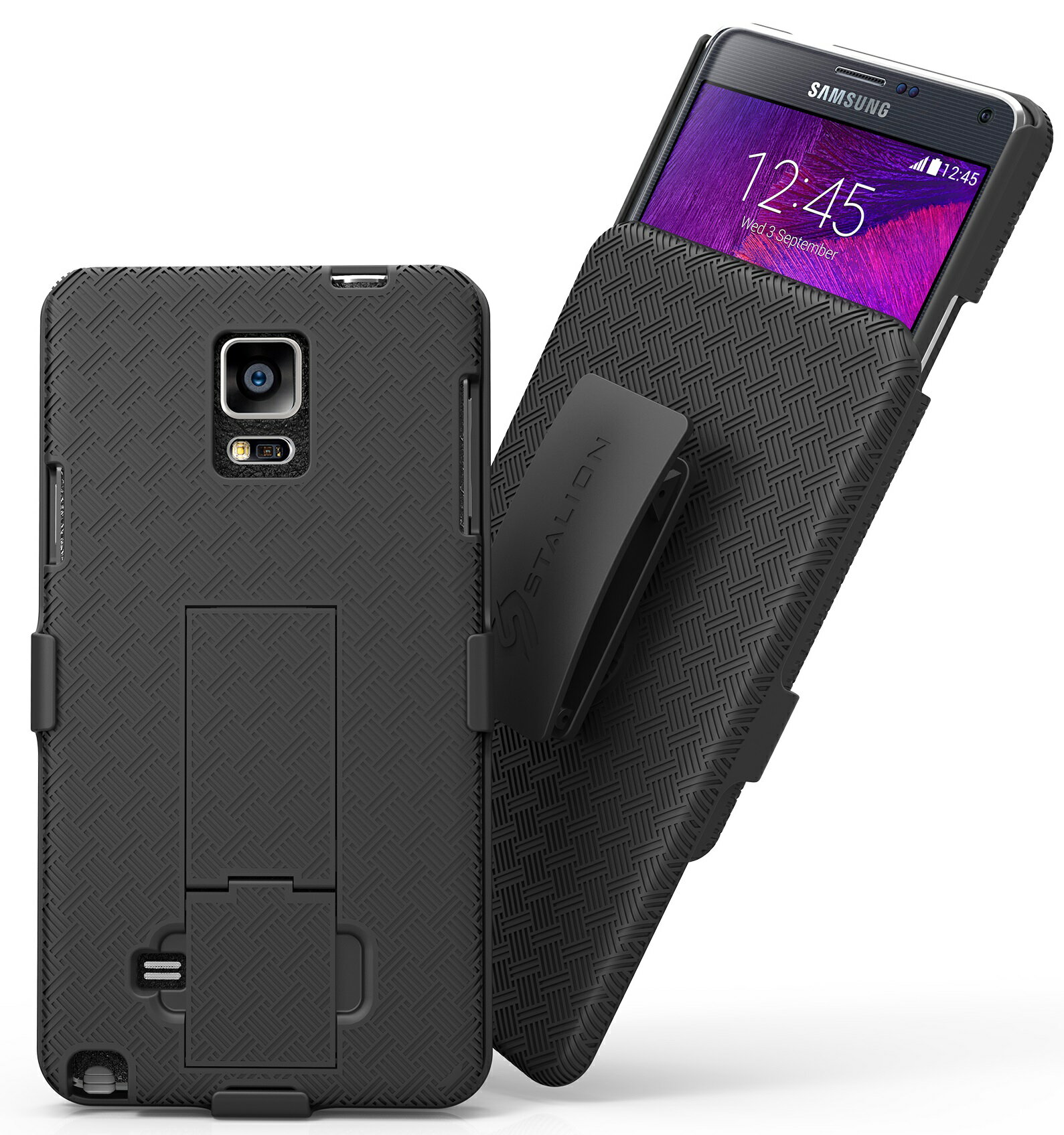 new concept 2cde4 21295 Samsung Galaxy Note 4 Holster Case & Belt Clip Combo