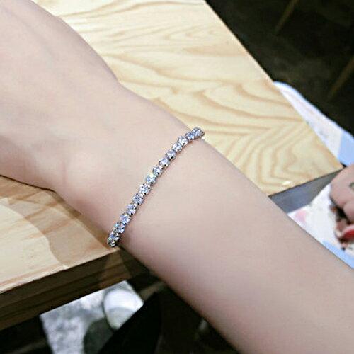 手鍊 - 時尚奢華閃耀水鑽K金手鍊【21586】Blue Paris【防過敏】 2