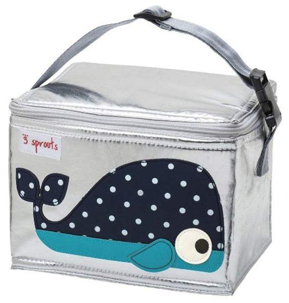 【原廠公司貨】加拿大3 Sprouts 午餐袋/母乳保冷/保溫袋-小鯨魚