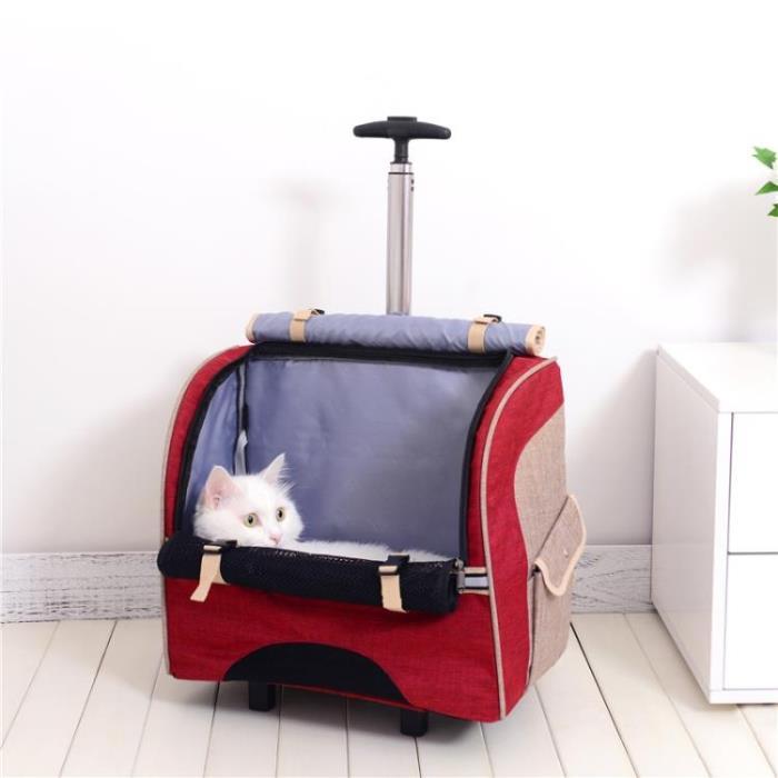 拉桿便攜包貓咪狗狗外出寵物背包 貓包可拆卸式拉桿箱