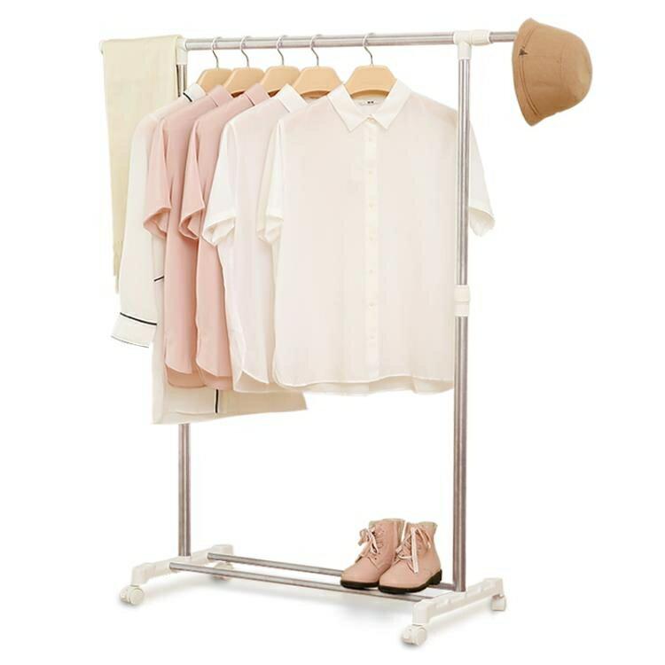 晾衣架落地單桿摺疊室內陽台簡易伸縮晾衣桿行動涼衣架曬架掛衣架
