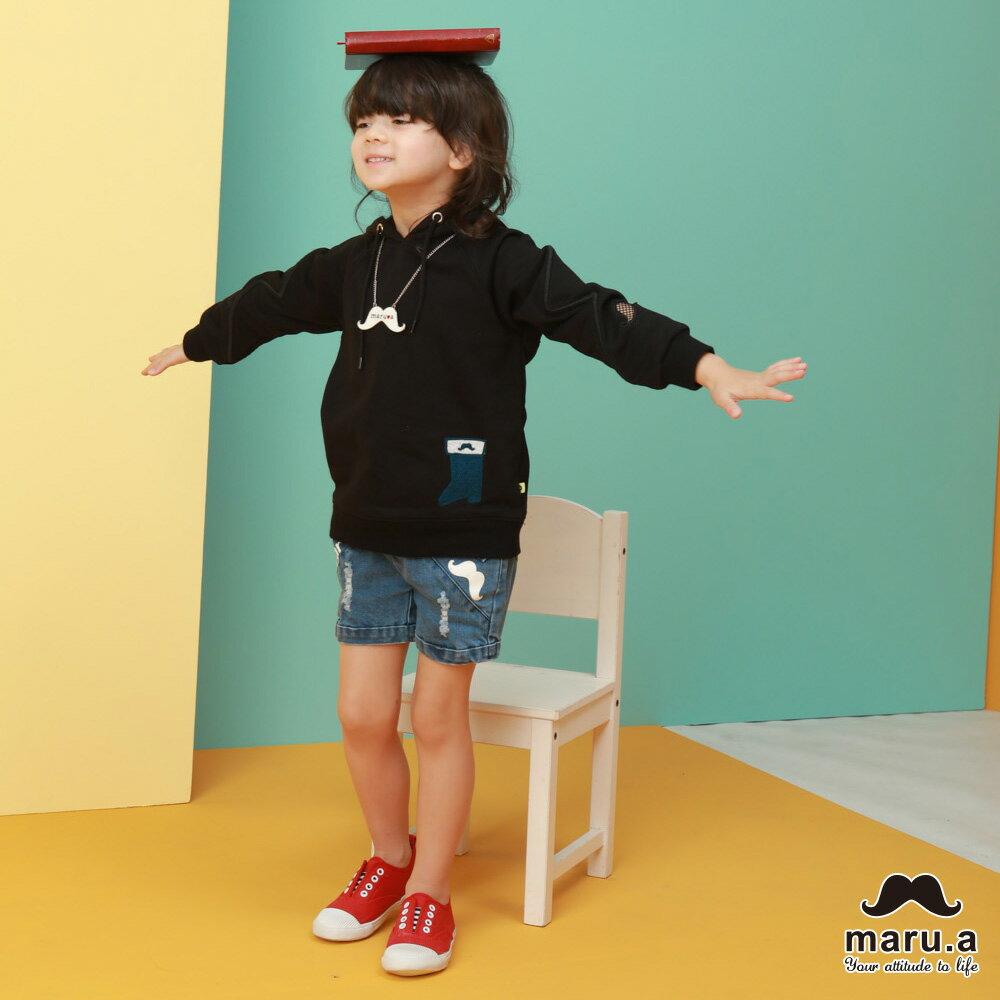 【maru.a】親子款連帽靴子繡花袖子網紗簍空休閒T-shirt(2色)8921216 / 8951211 5