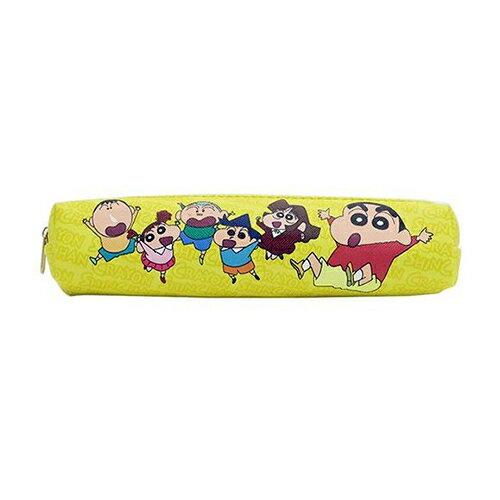 【日本進口】蠟筆小新 野原新之助 皮革 長型筆袋 鉛筆盒 筆袋 防潑水 - 150991