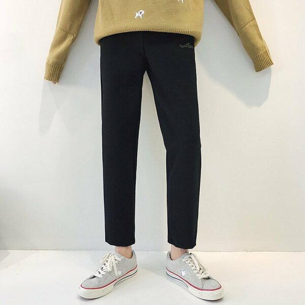 FINDSENSEG6韓國時尚潮男加厚保暖褲西褲九分褲修身個性男士休閒褲
