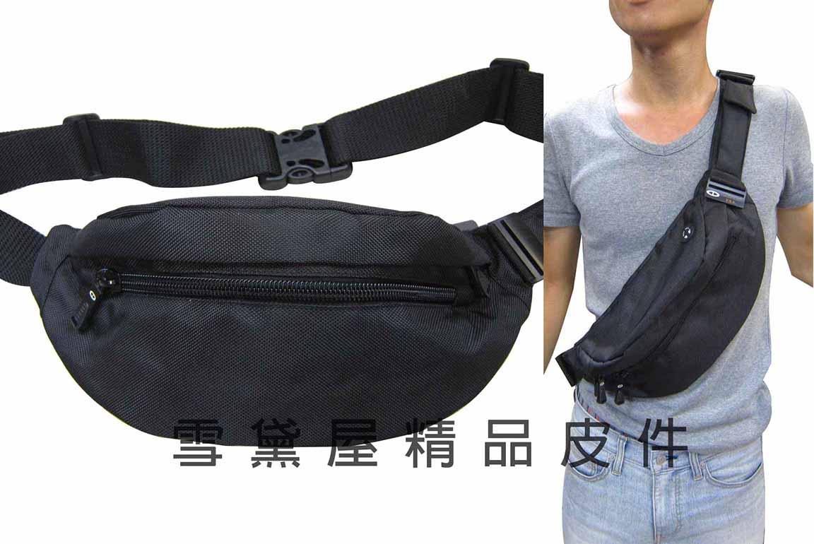 ^~雪黛屋^~TaTi 屁股包腰包胸前30kg拉力測試斜側隨身品 包防水尼龍布 MP3耳機