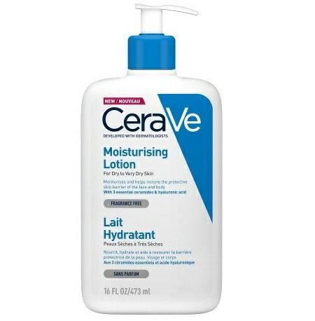 CeraVe適樂膚 長效清爽保濕乳 473ml/瓶*18瓶(箱購)隨貨搭口罩(湖水藍)*8盒