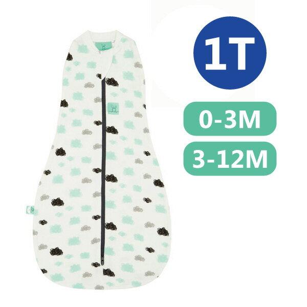 【全品牌任兩件贈三角圍兜】ergoPouch ergoCocoon 二合一竹纖有機舒眠包巾1T(春.秋款)(0~3M/3-12M) 懶人包巾-朵朵雲