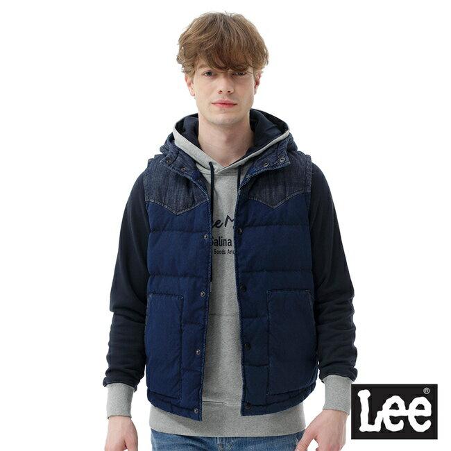 Lee 連帽羽絨背心 / RG-深藍色-男款 0