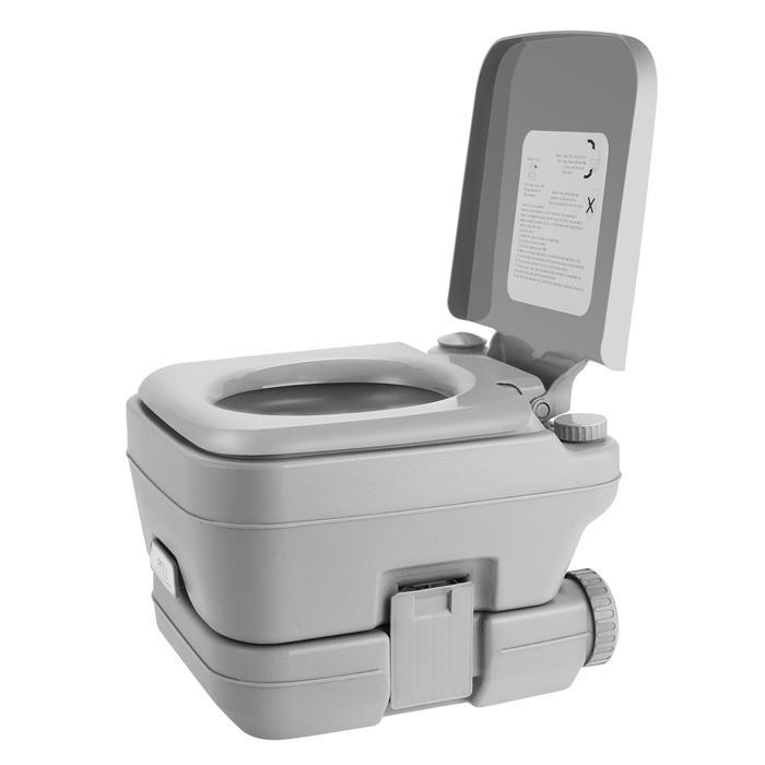 2.8 Gallon 10L Portable Toilet Travel Camping Outdoor/Indoor Toilet Potty Flush 1