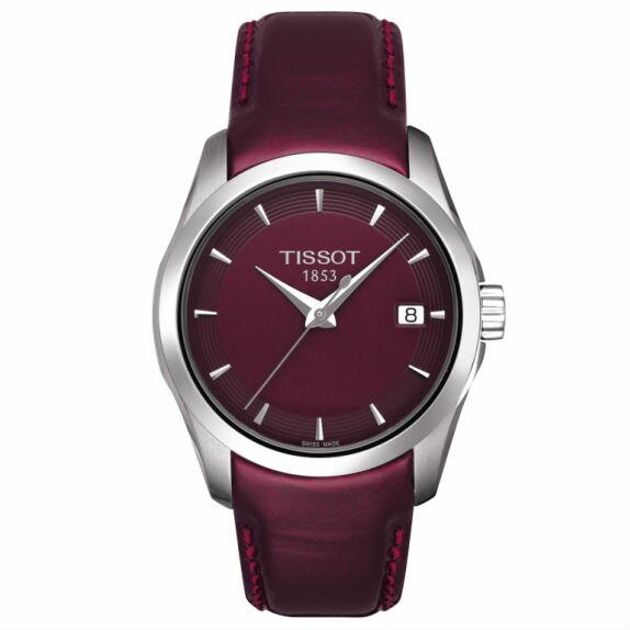 TISSOT天梭T0352101637100 建構師優雅經典石英腕錶/紫面32mm