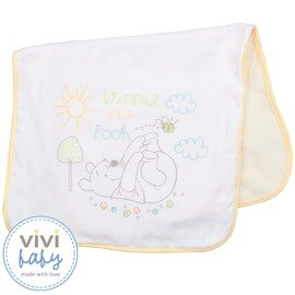 ViViBaby - Disney迪士尼小熊維尼雙面澡巾 (毛巾+紗布)