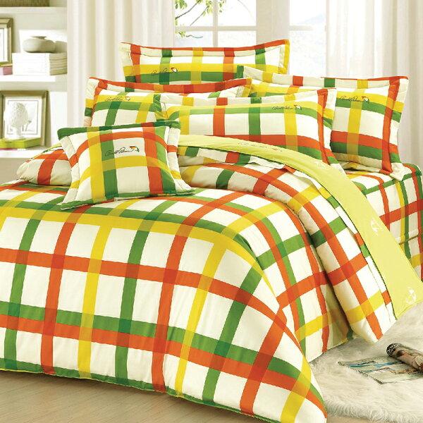 床罩組雙人-100%精梳棉【田園交響曲】ArnoldPalmer豪華七件式床罩組,台灣製,戀家小舖