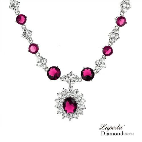 大東山珠寶 薔薇之戀 奢華晚宴精品珠寶項鍊套組 2