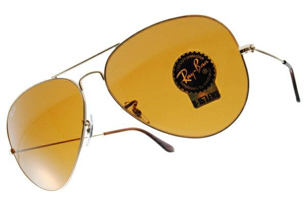 Ray Ban 雷朋 金邊茶色鏡片 RB3025 太陽眼鏡 1