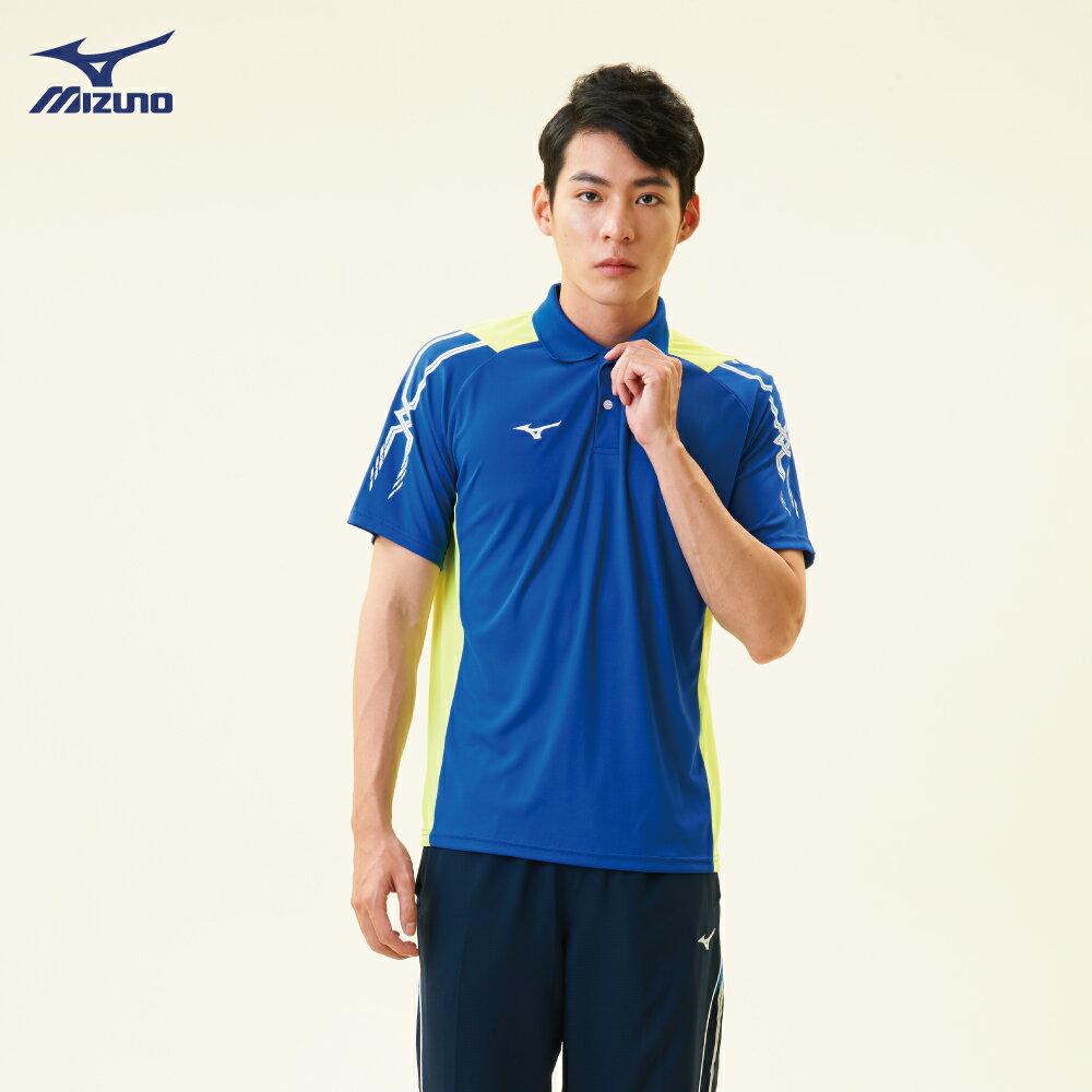 32TA801822(深藍)熱遮蔽布料 男短袖POLO衫【美津濃MIZUNO】 2