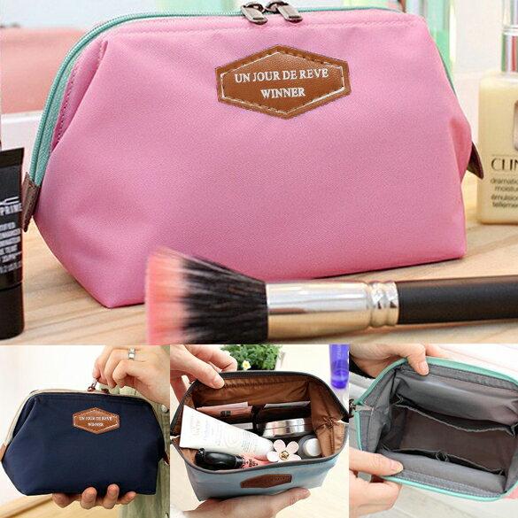 Lady Travel Makeup bag Cosmetic pouch Clutch Handbag 4