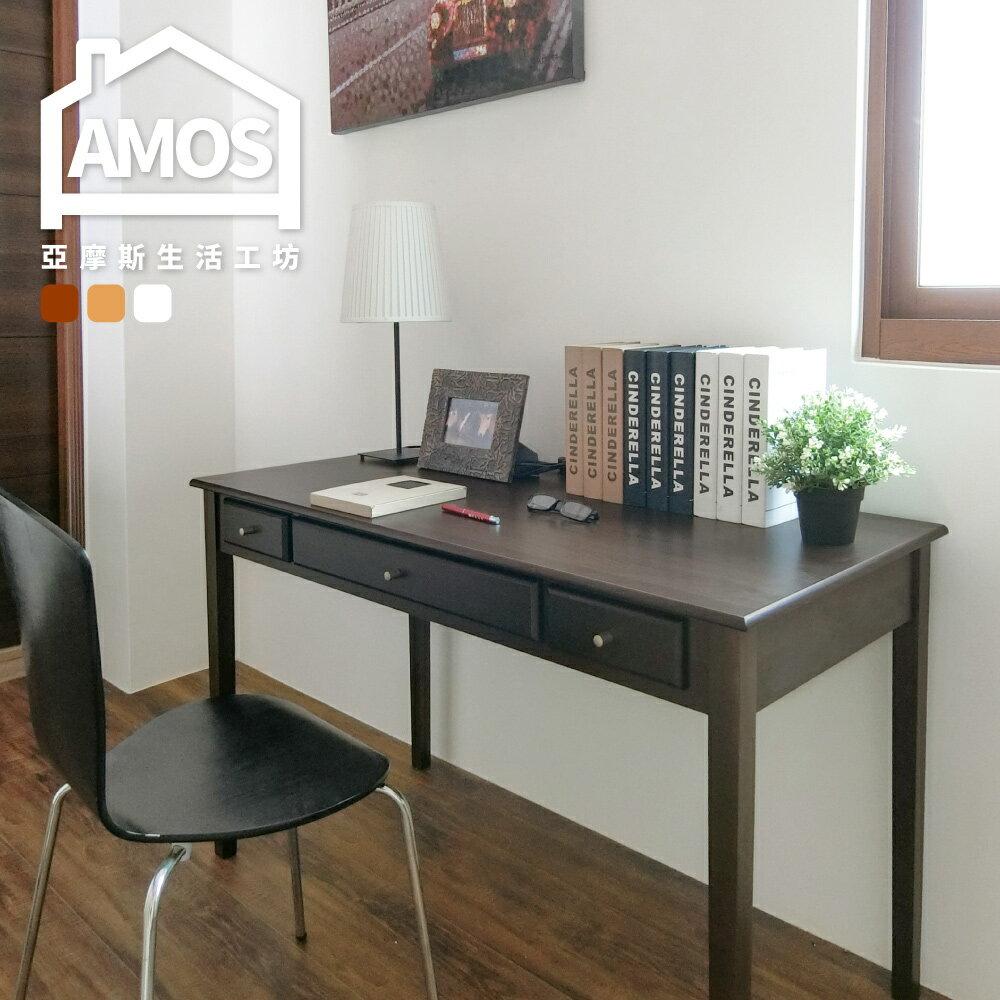古典三抽120CM書桌 電腦桌 辦公桌 工作桌 防潑水MDF板零甲醛 實木腳 收納 法式典藏風 Amos【DCA025】 0