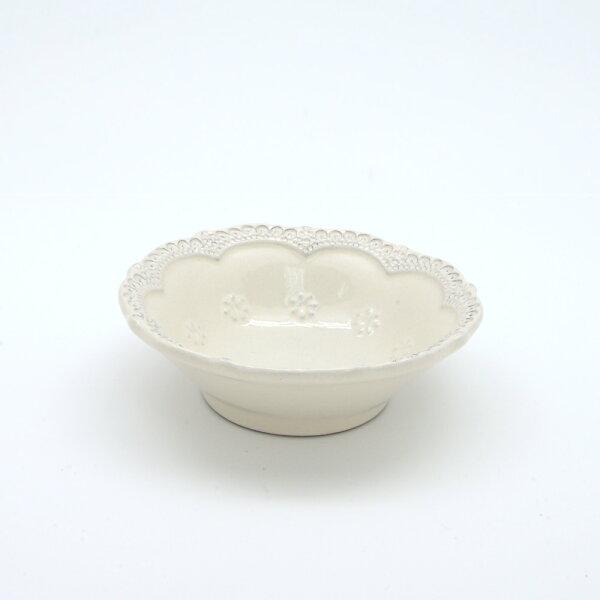 義大利VBCCASA蕾絲13CM小圓碗(米白)